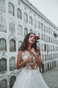 women's white and black floral sleeveless dress