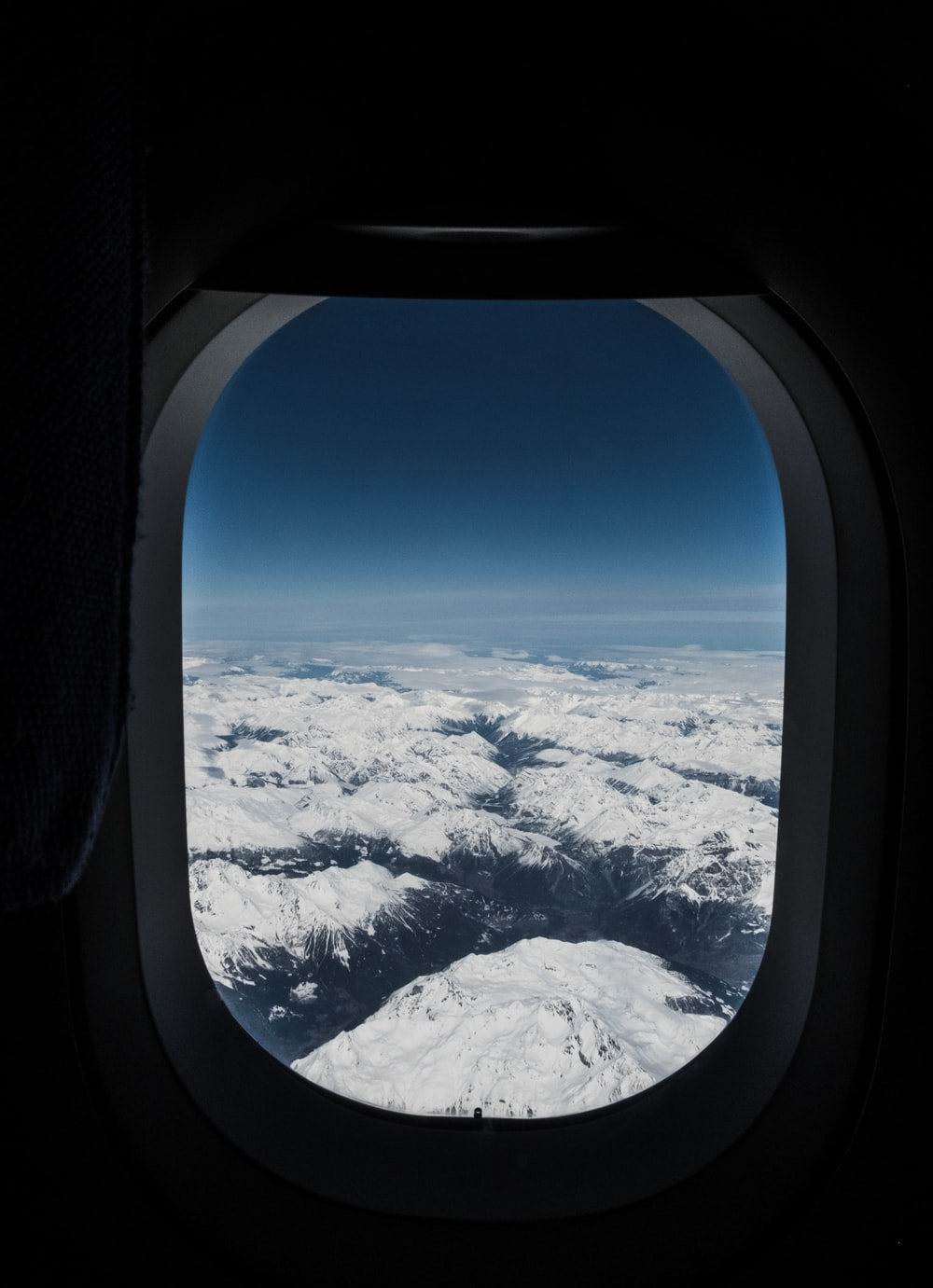 aerial photography of airplane window