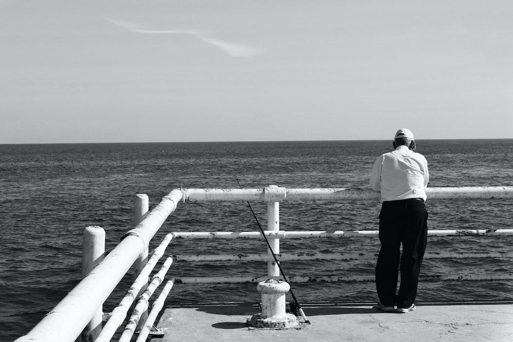 man on railings