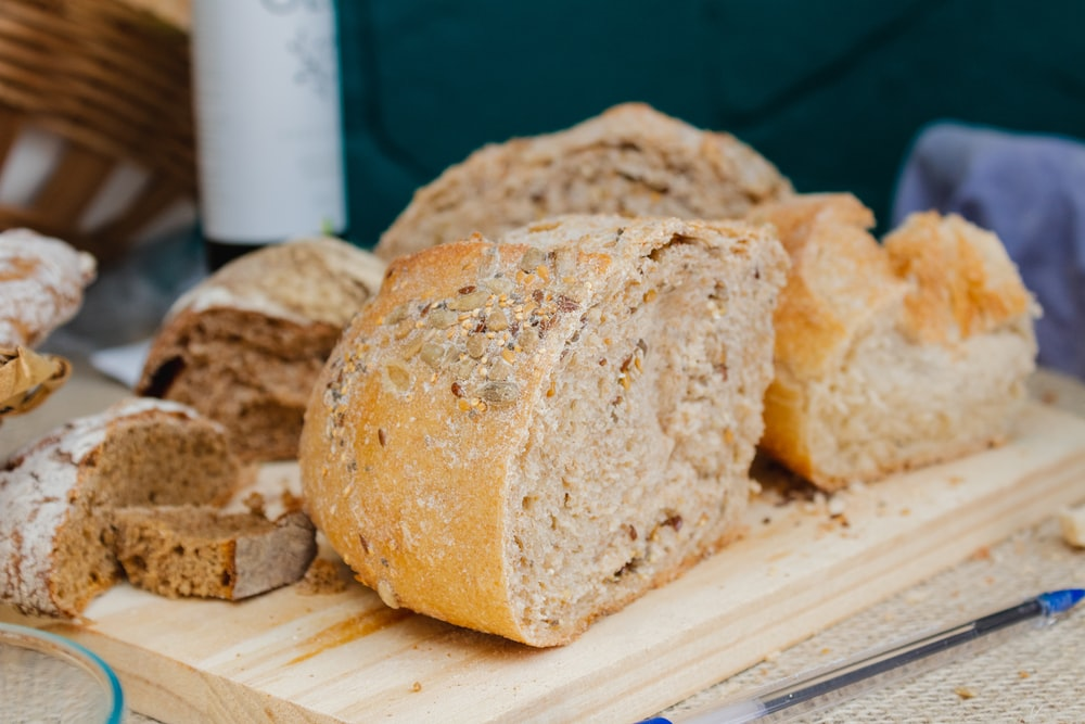 breads on chopping board