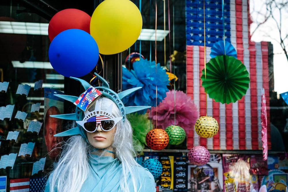 person wearing multicolored costume