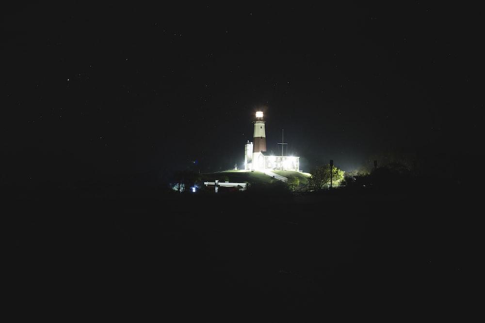 lightened tower