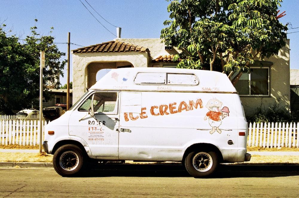 white Ice Cream van