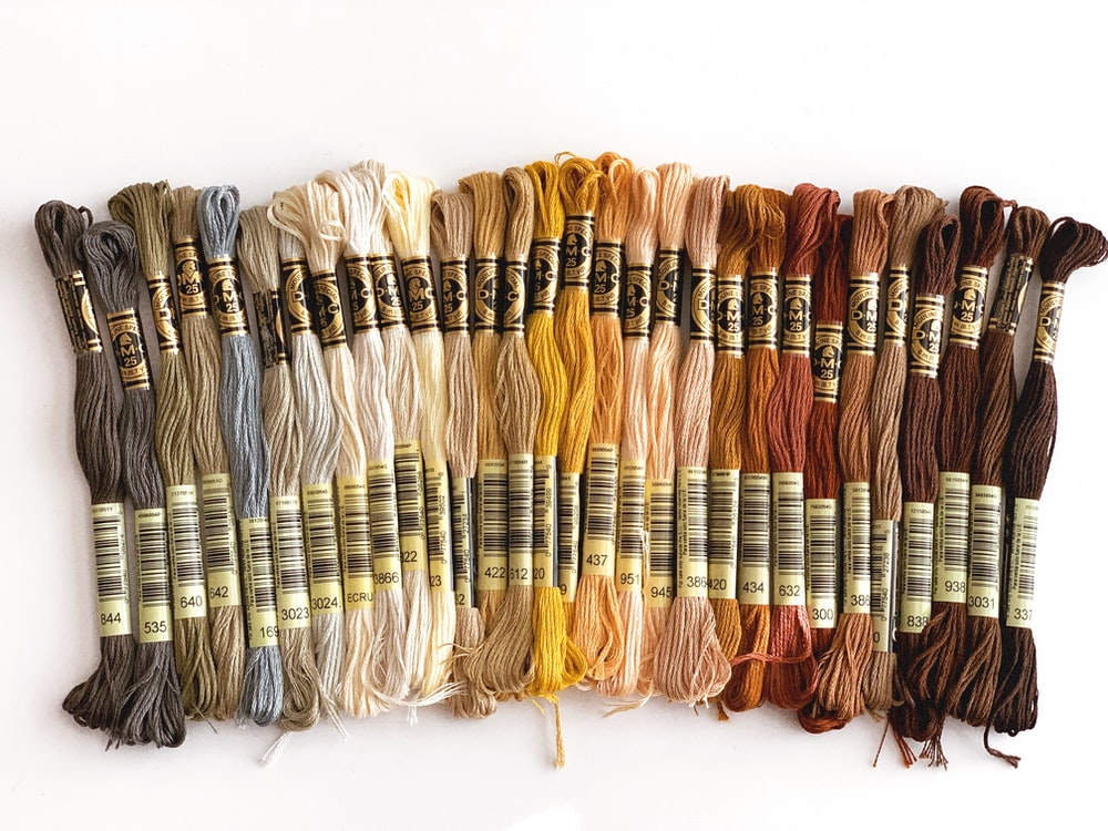 assorted-color cross-stitch thread lot