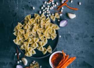 beige pasta with spices