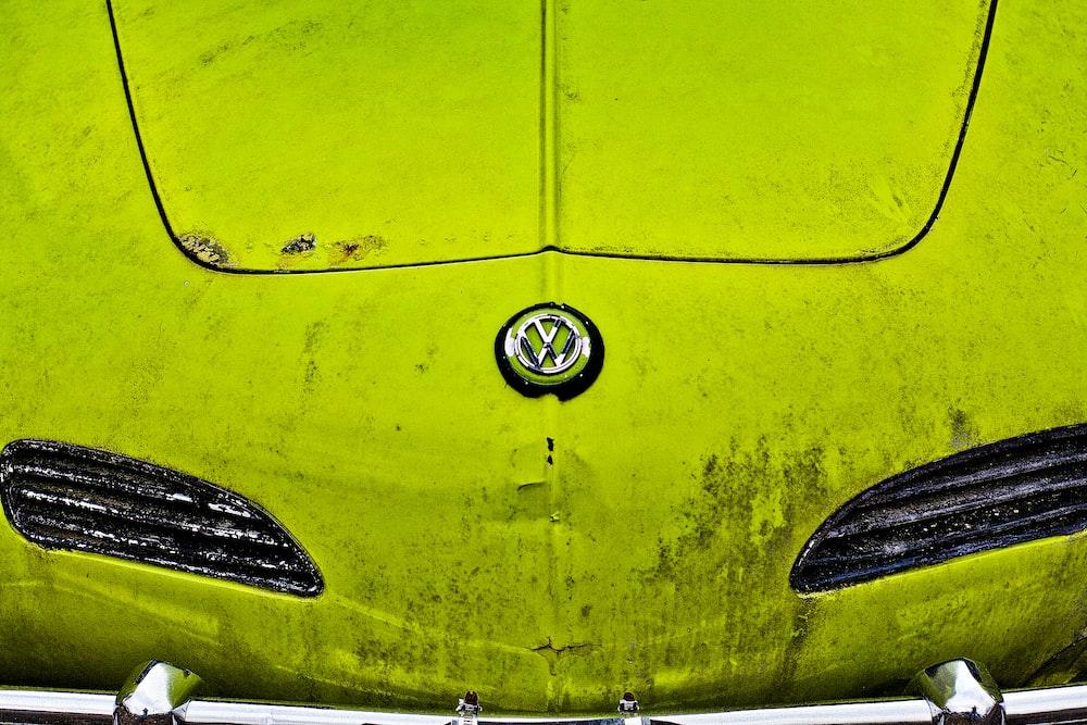 yellow Volkswagen car