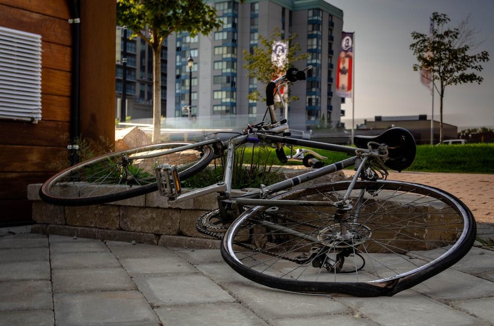 bike on concrete floor