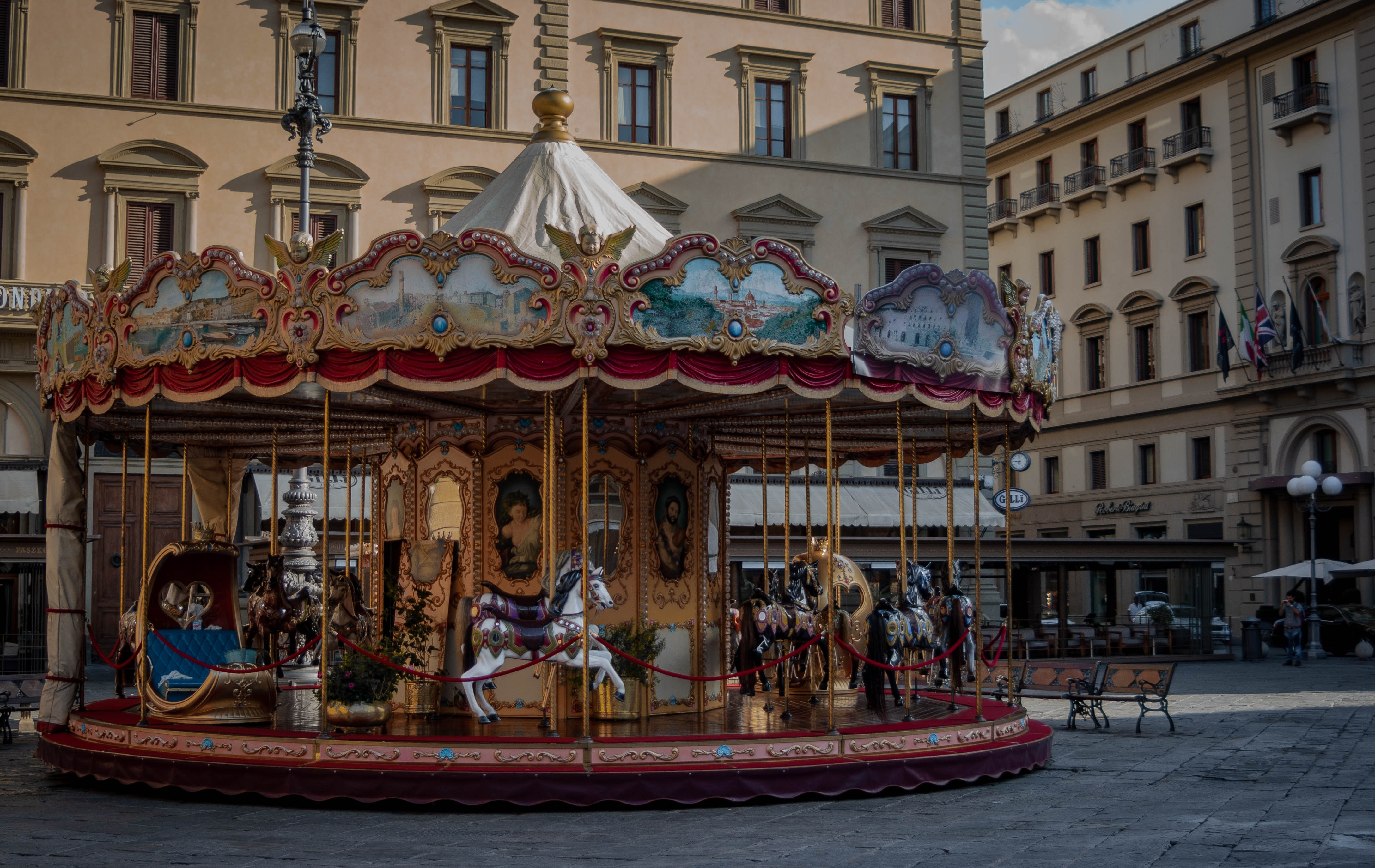 carousel in the city at daytime