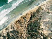 aerial photography of sea wave and rocks
