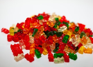 assorted-color bear candies