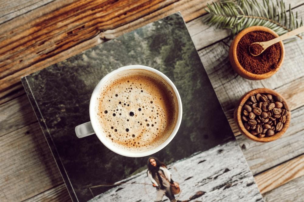 coffee in white mug