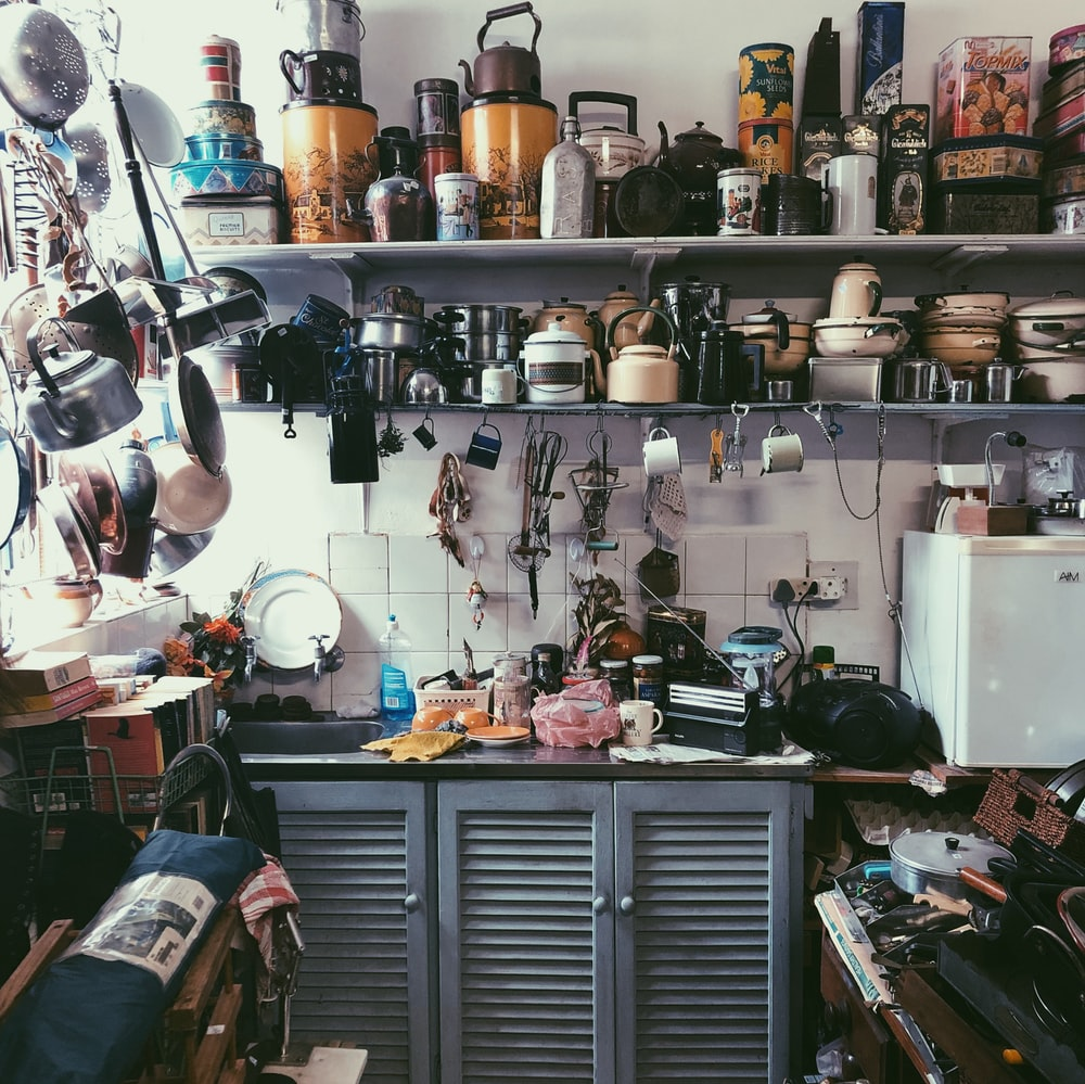 assorted kitchen ware and tools