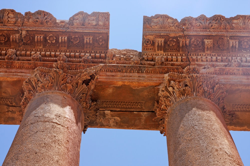 brown concrete pillar