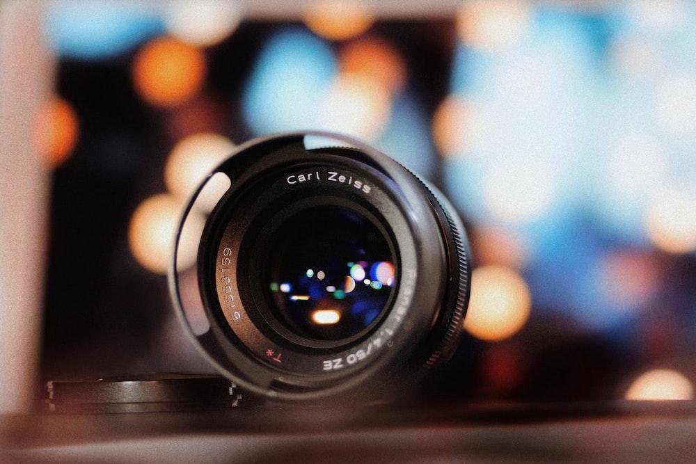 black Carl Zeiss telephoto lens