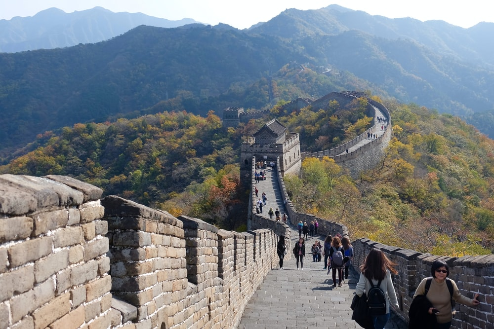 people on Great Wall of China during daytime