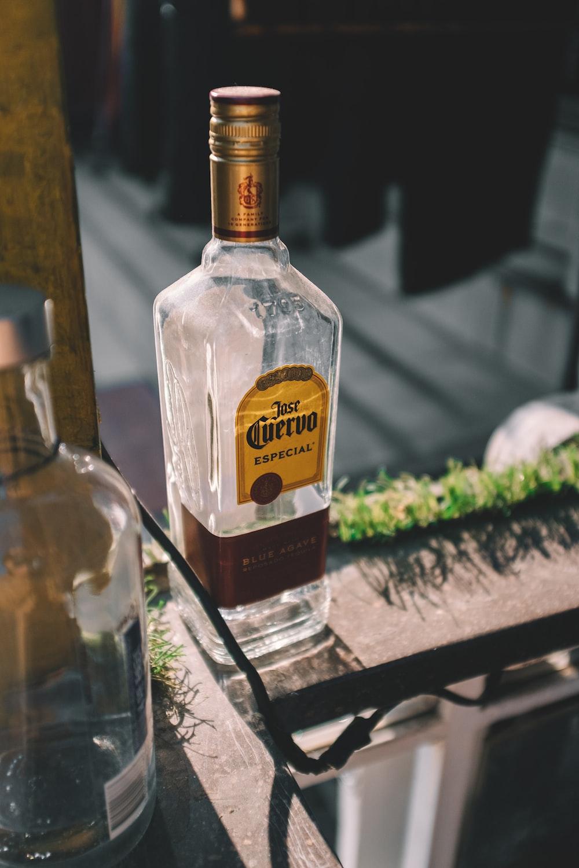 Jose Cuervo empty bottle