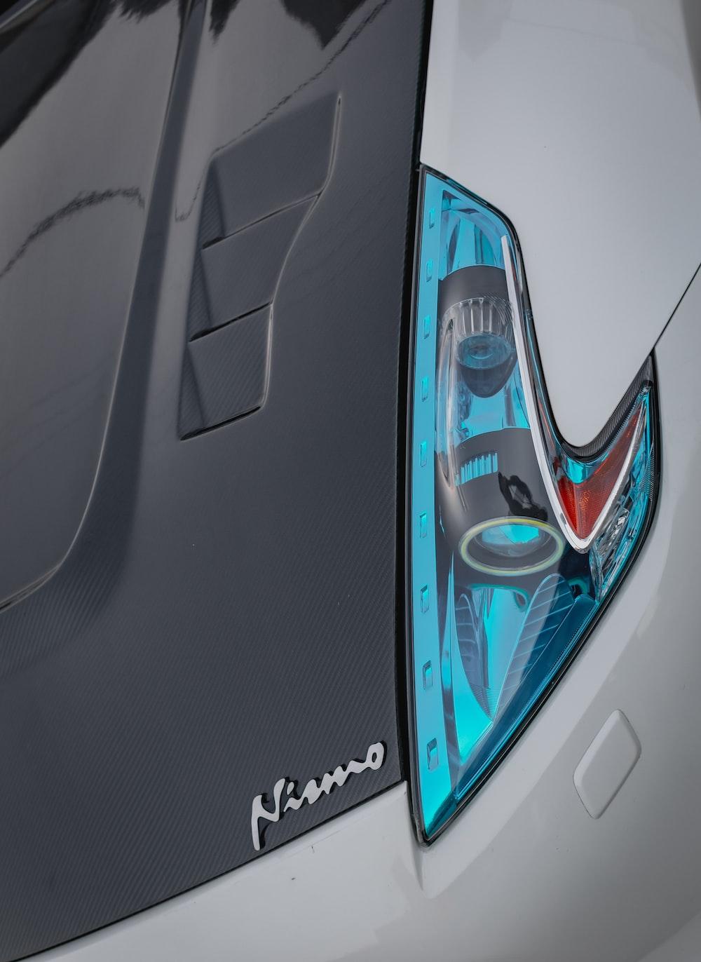 blue vehicle headlight
