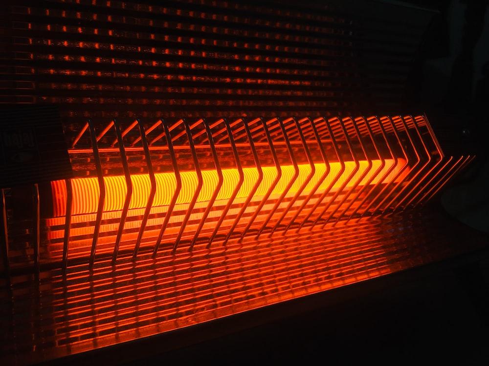 turned-on heater
