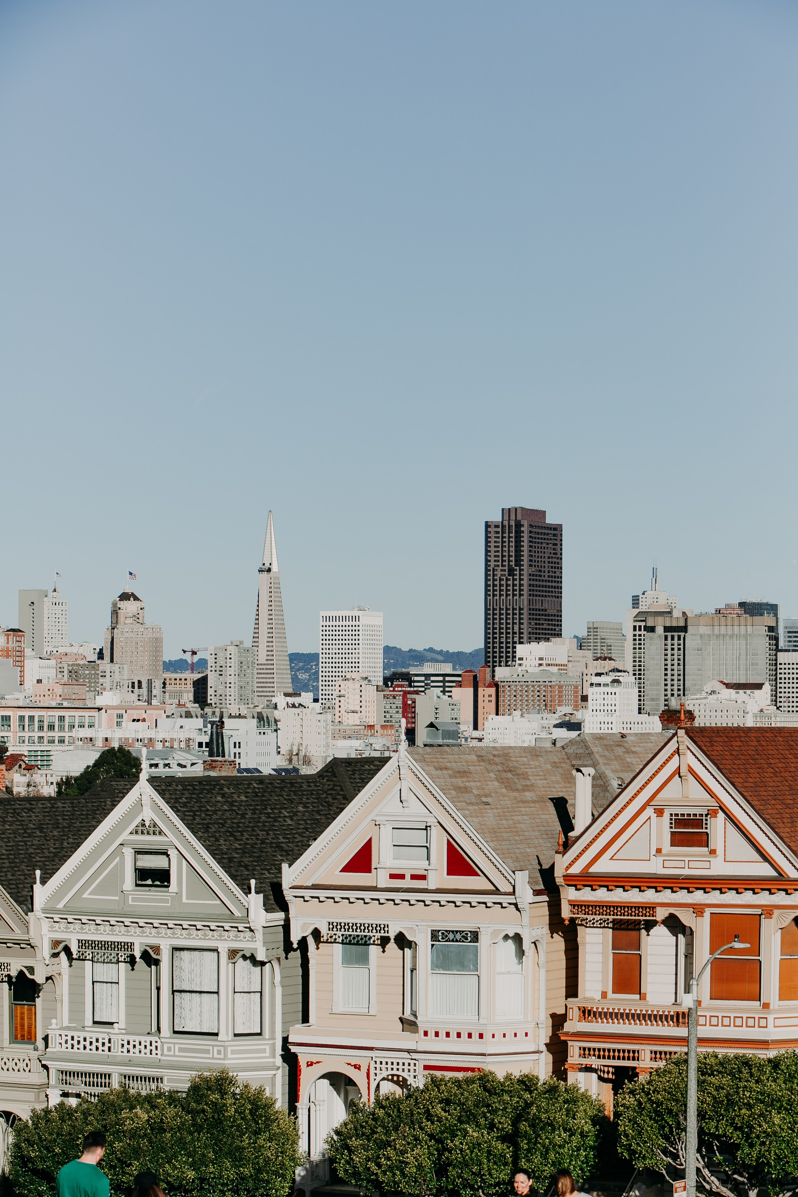 San Francisco California Painted Ladies And Full House Hd Photo By
