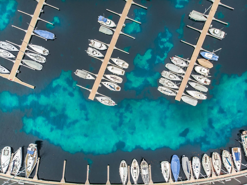 boat lot on body of water