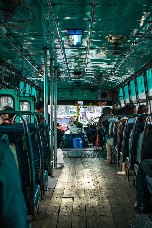 people sitting inside vehicle