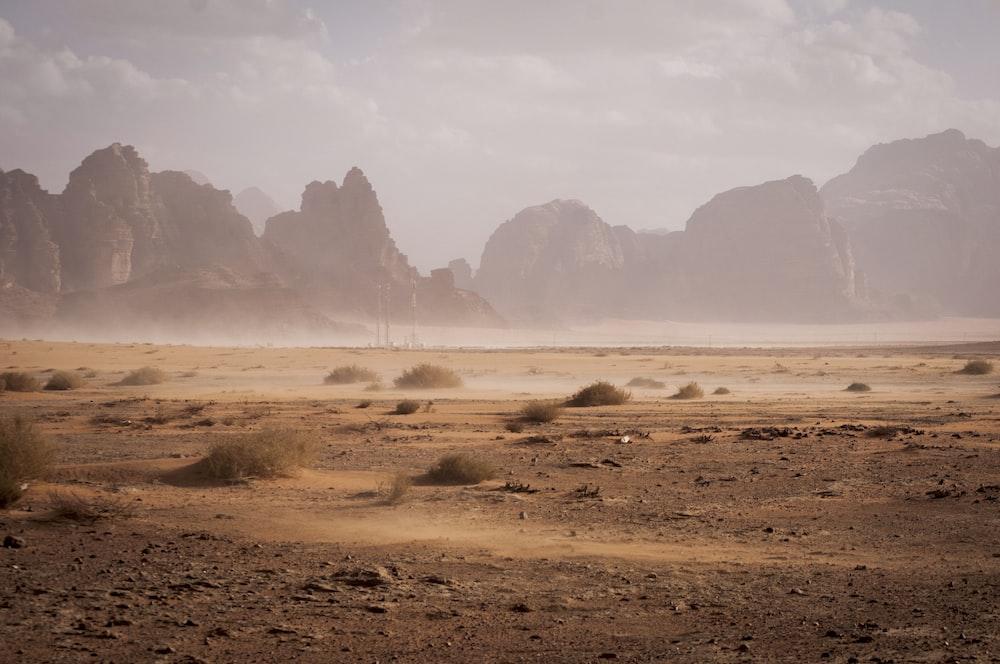 dusty desert valley
