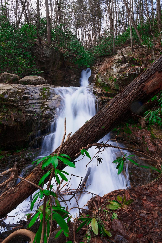 waterfalls timelapse photo