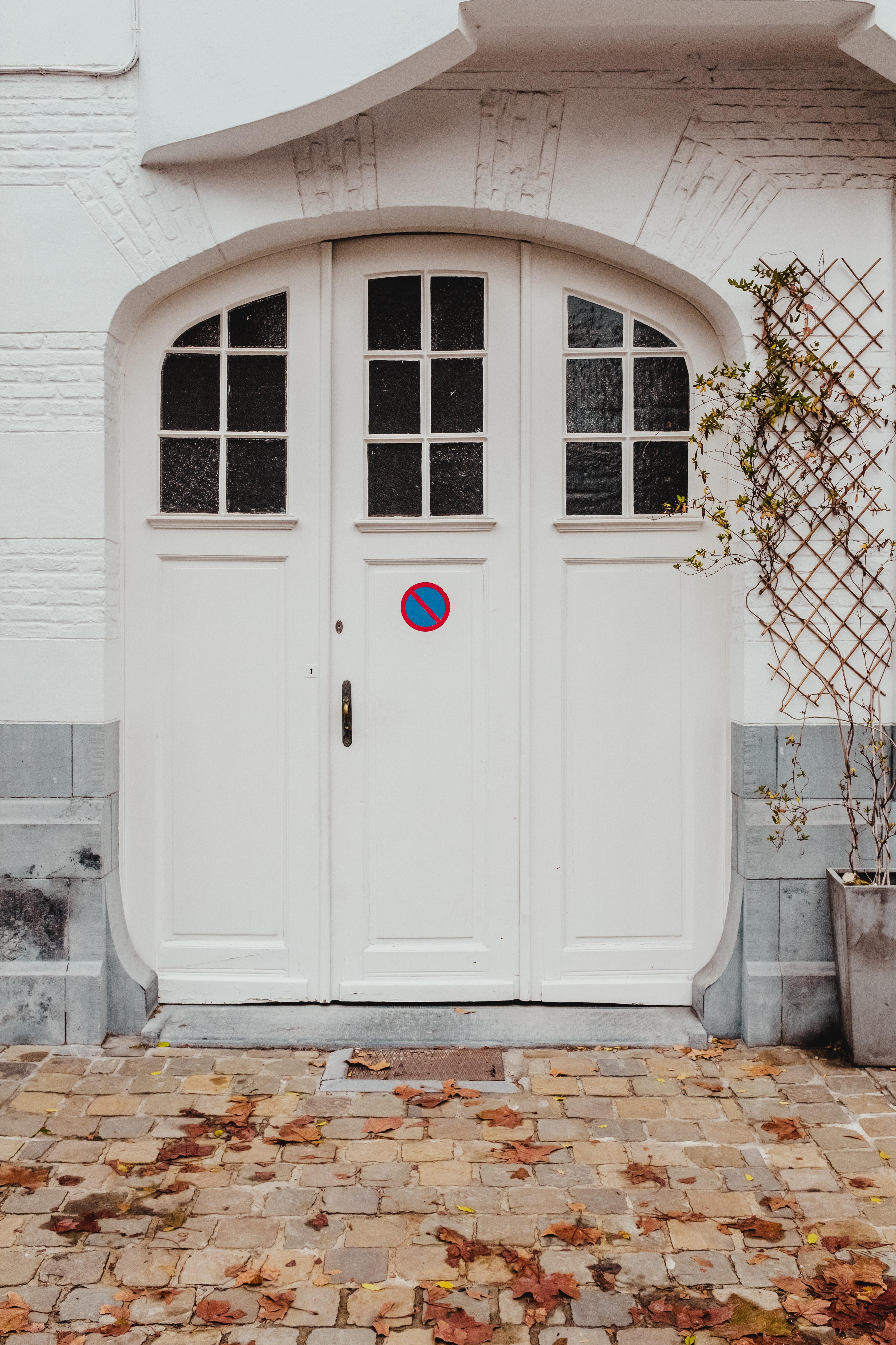 white wooden 2-panel door