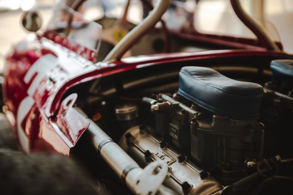 shallow focus photo of car parts