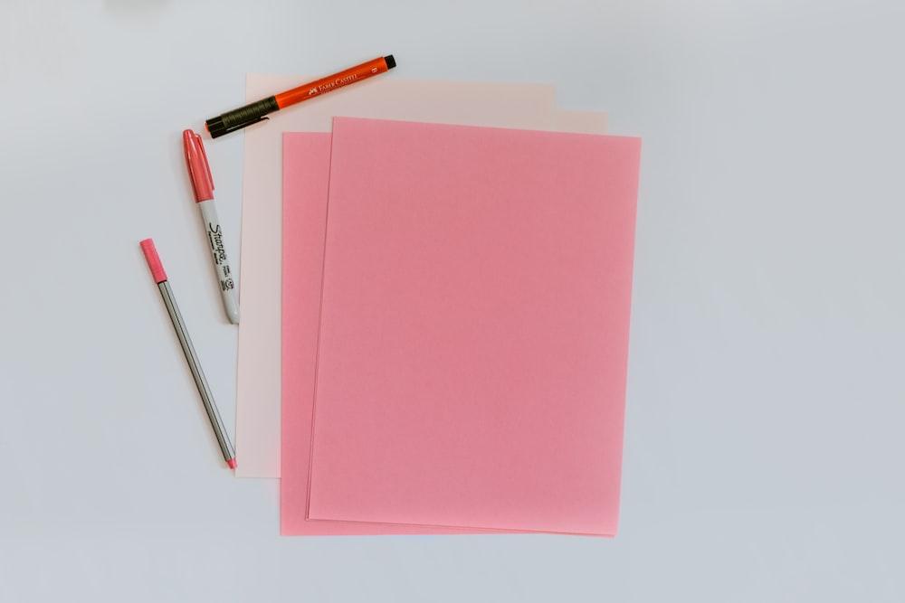 pink printer papers