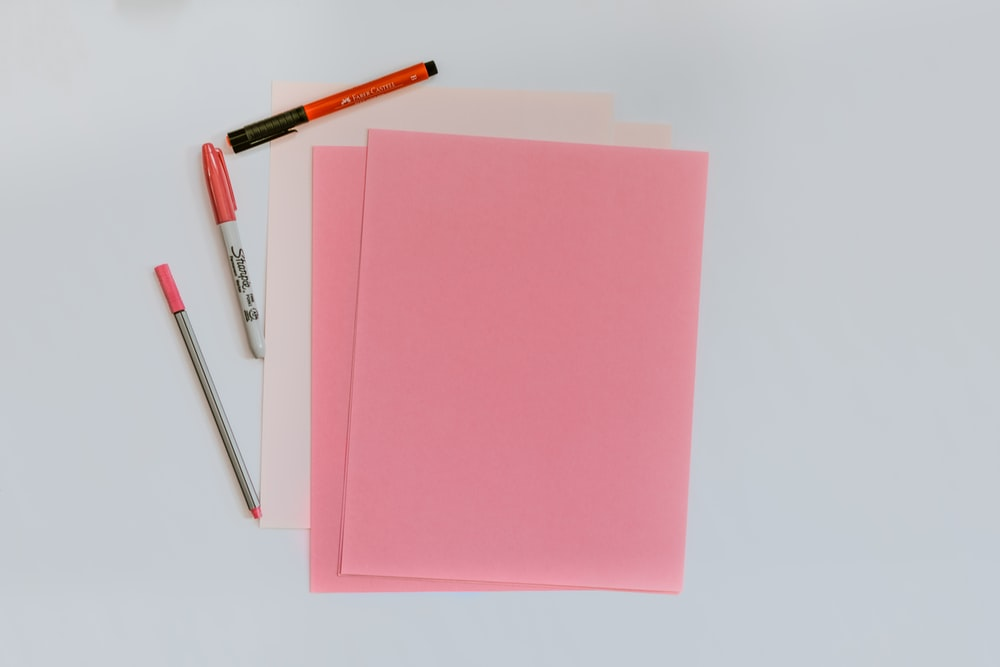 pink printer papers