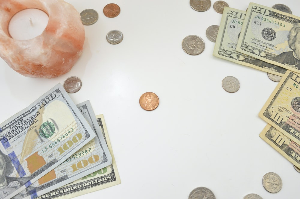 10 and 10 us dollar bills
