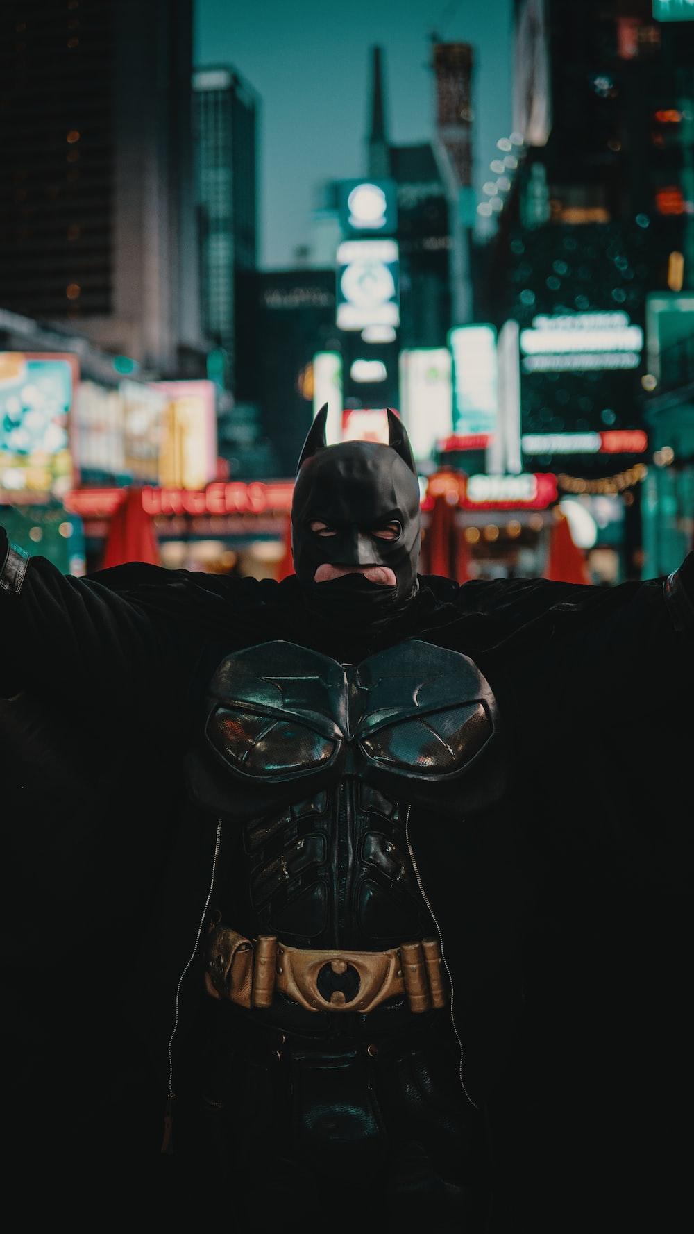 man wearing Batman costume