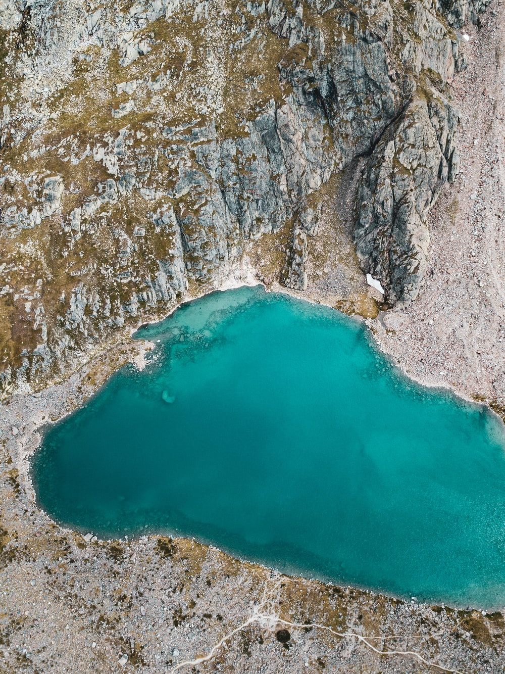 aerial photography of lake during daytime