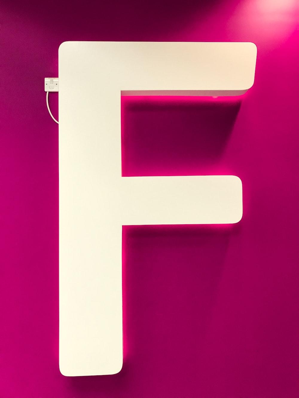 letter F signage