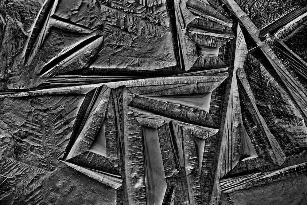 black and gray tribal print textile