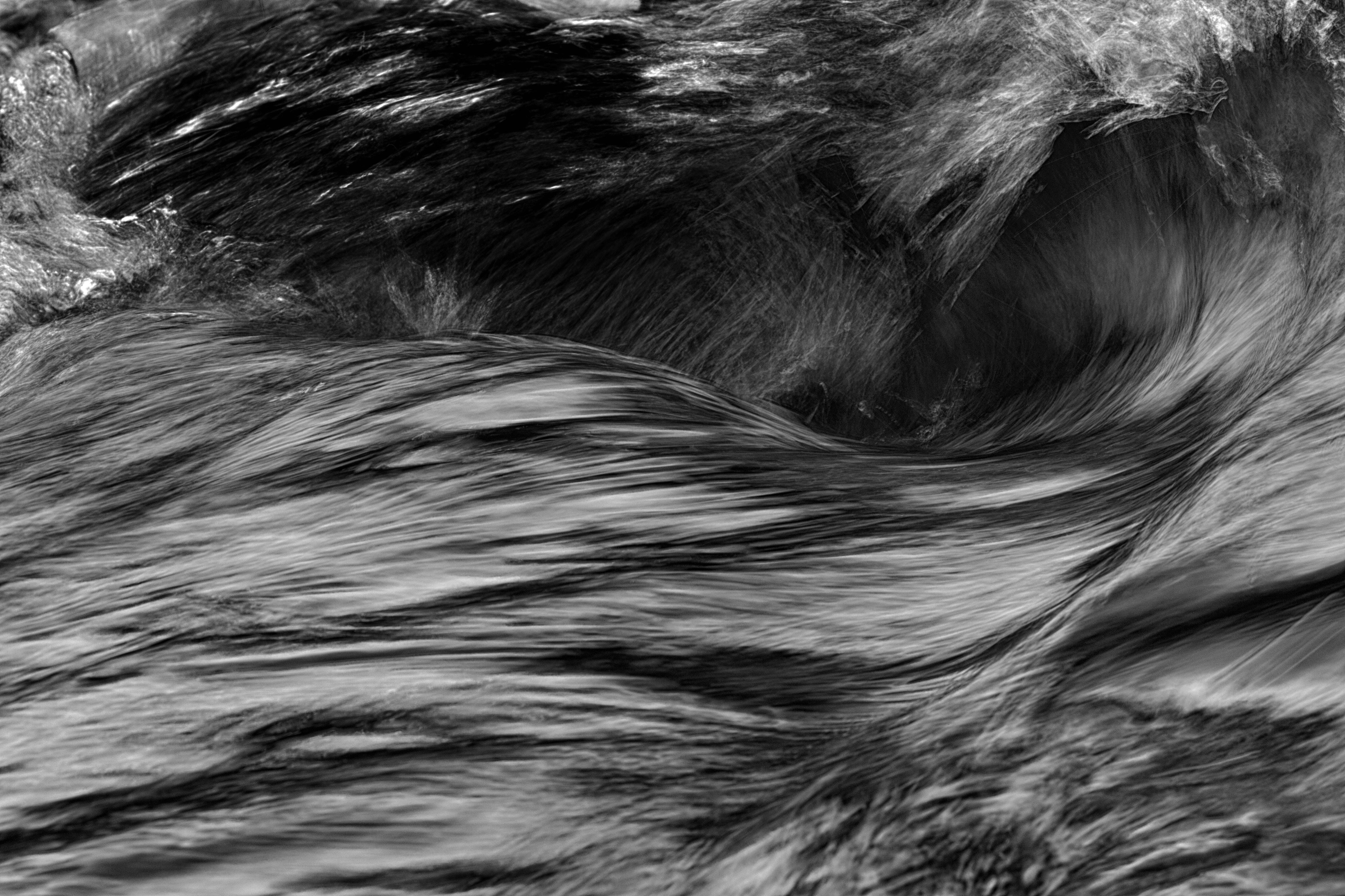 black and gray fur textile