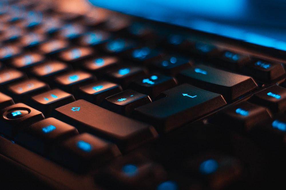 closeup photo of computer keyboard