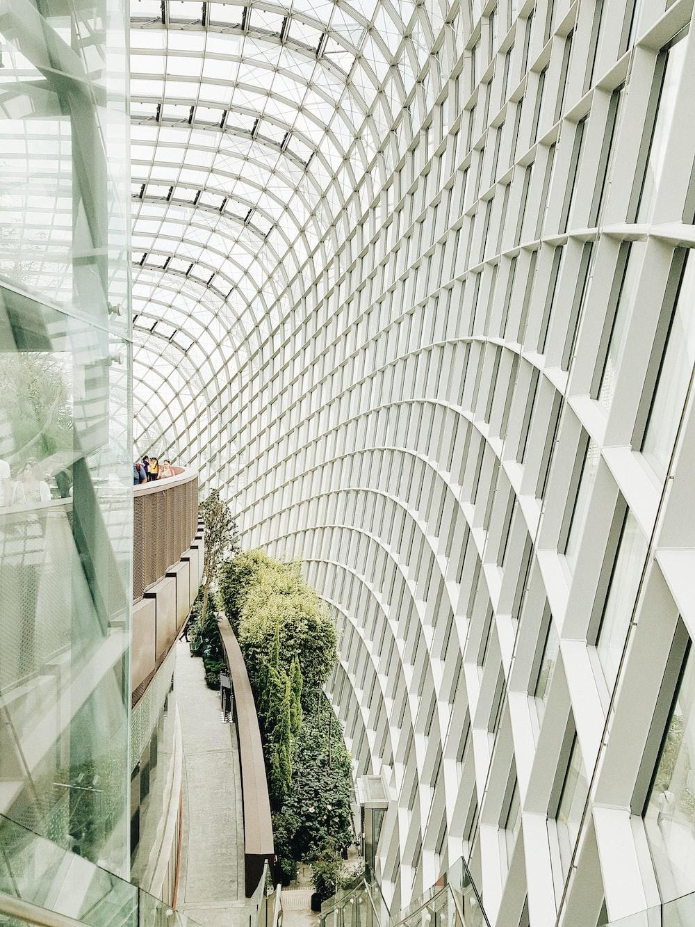 white concrete building interior