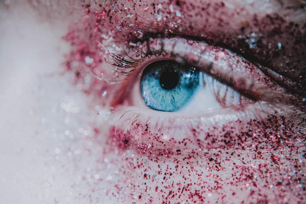 blue human eye