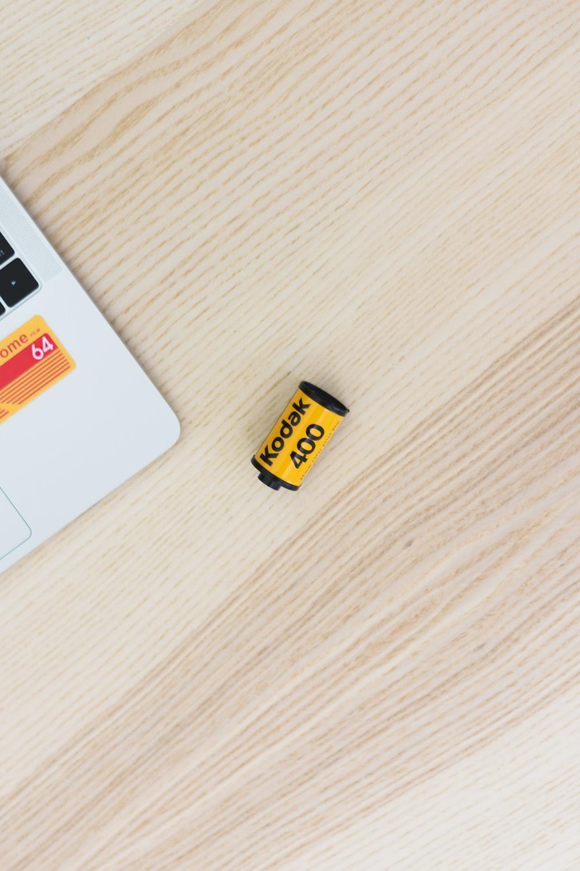 yellow and black Kodak 400 battery