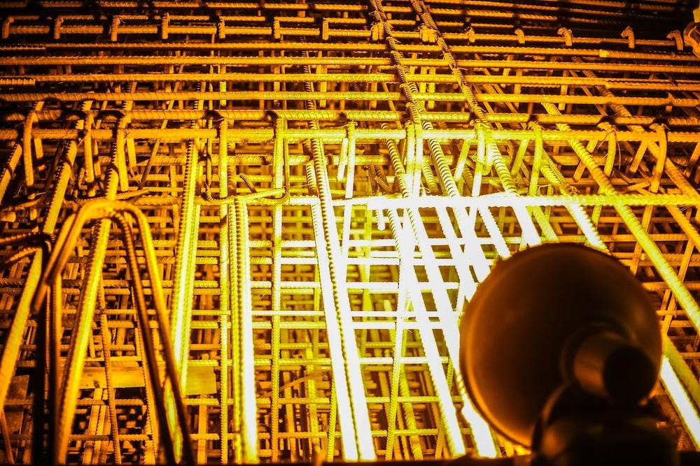 lighted metal frames