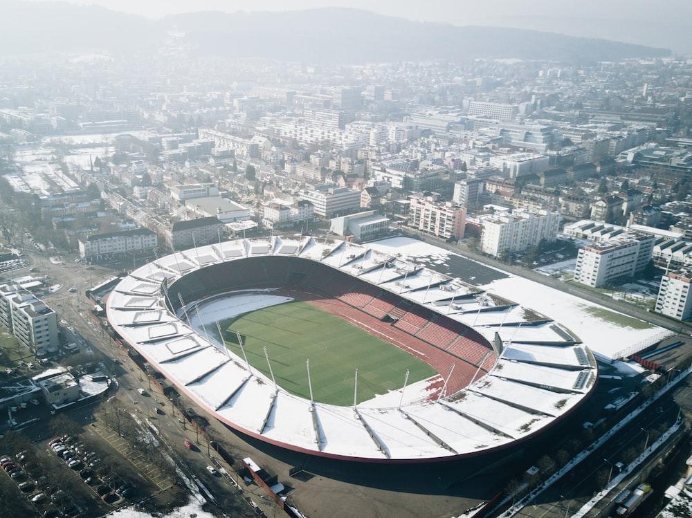 oval white stadium