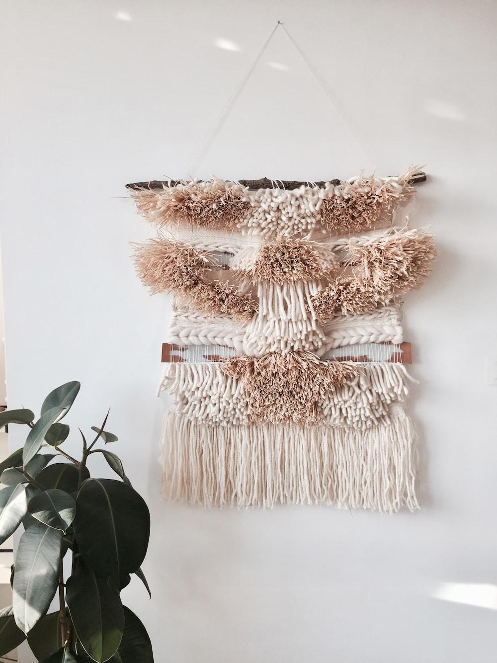 brown hanging decor