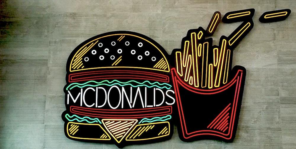 McDonald's fries and burger LED signs