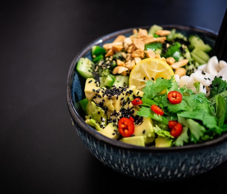 A bowl of vegan salad: Vegan and Vegetarian Restaurants