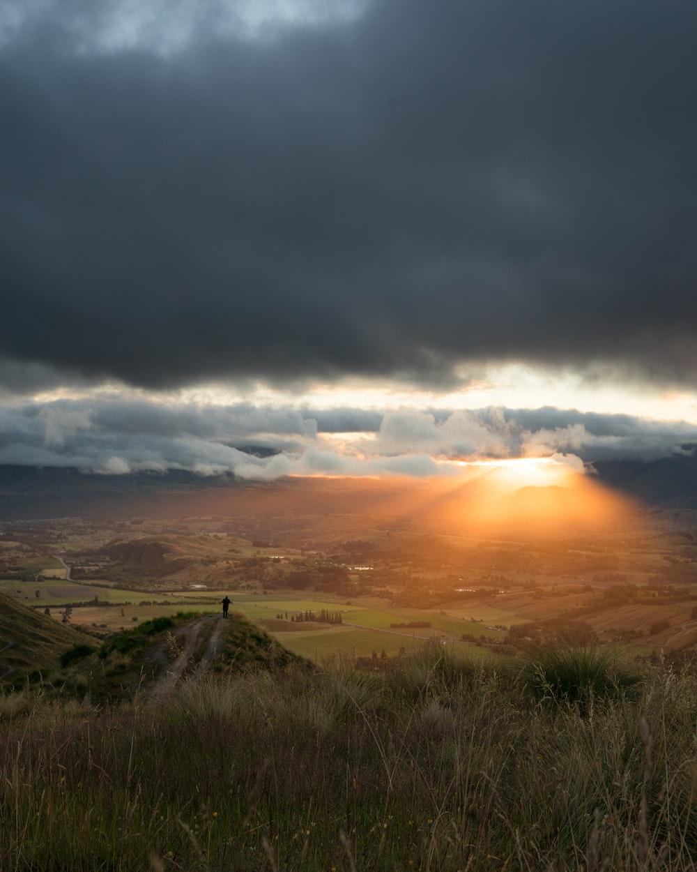 valley during golden hour