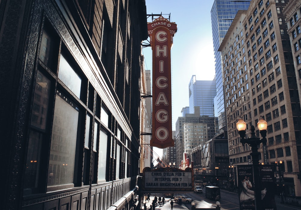 Chicago building sign during daytime