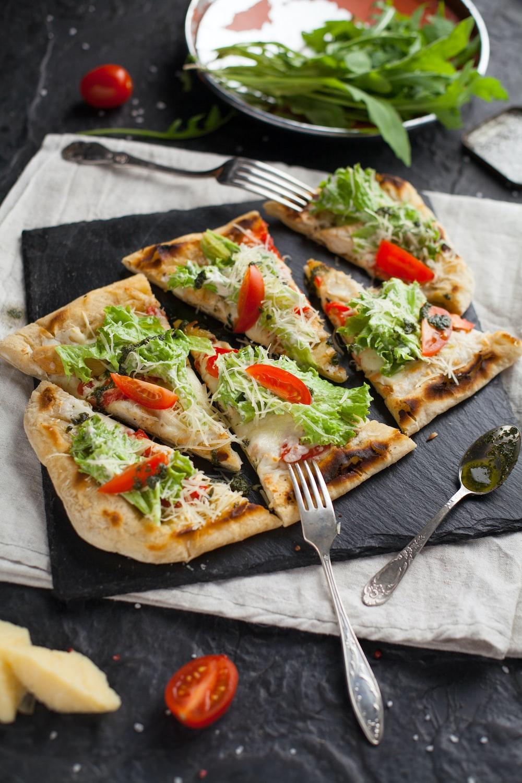 six sliced pizza
