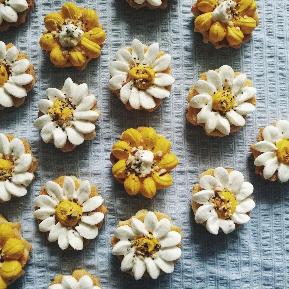 assorted-design baked biscuits